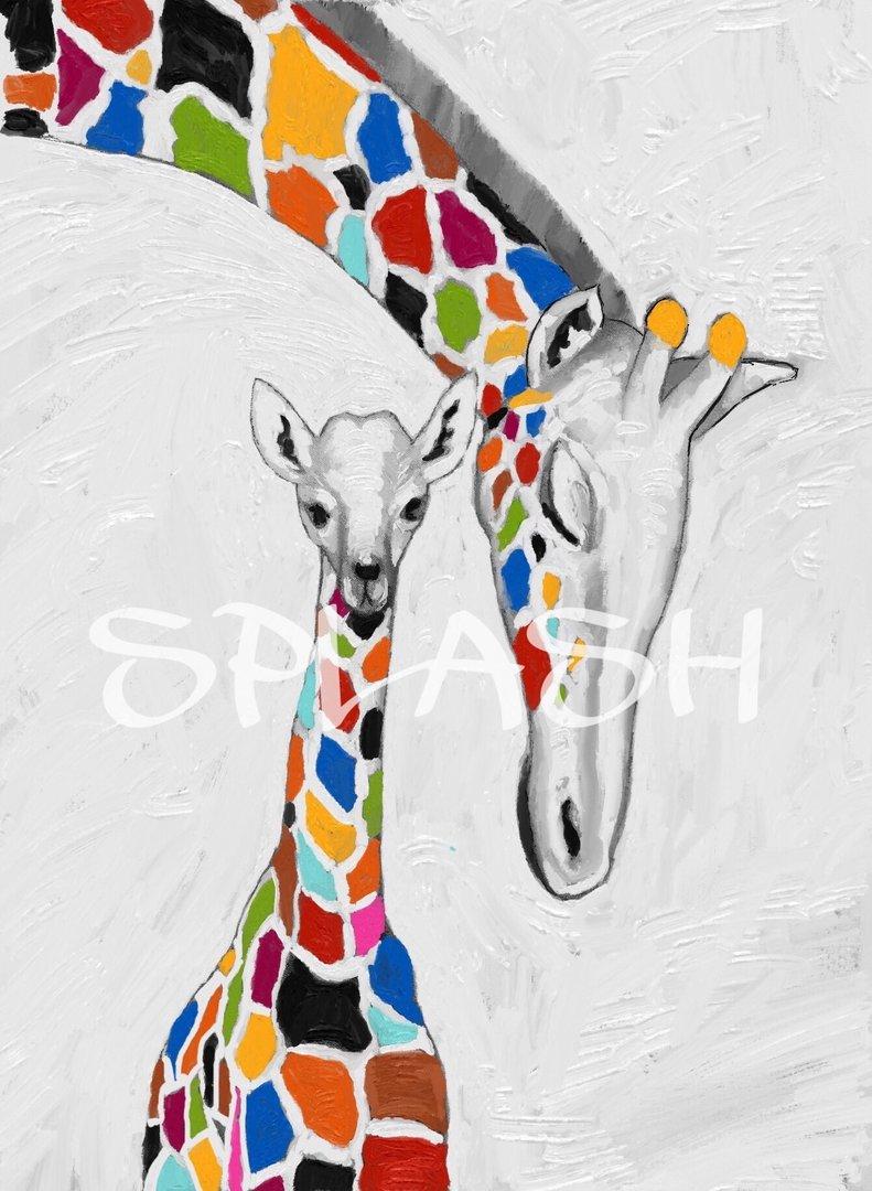 Cuadro tnico jirafas cuadros modernos tienda de cuadros - Fotos cuadros modernos ...