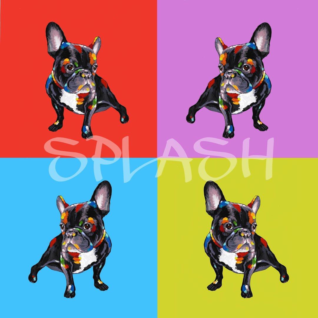 Cuadros pop art cuadro bulldog franc s cuadros juveniles - Cuadros pop art comic ...