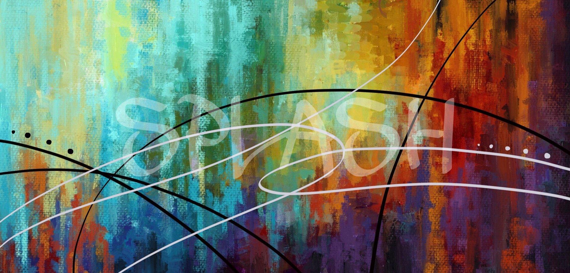 Cuadros abstractos cuadro multicolor moderno cuadros splash - Fotos cuadros modernos ...