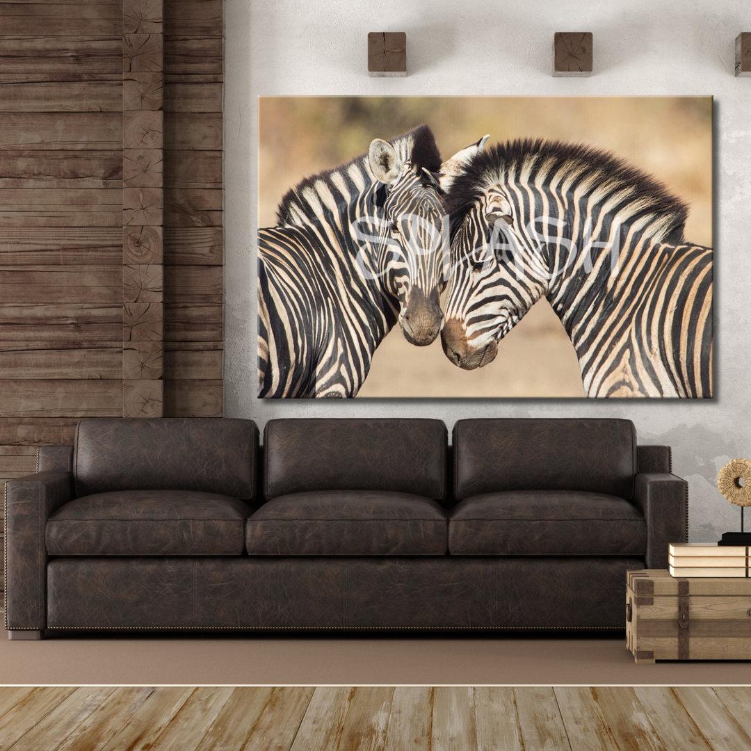 Cuadro etnico pareja de cebras impreso cuadros splash - Cuadros de cebras ...