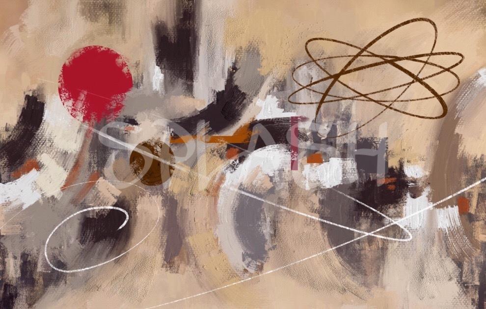 Cuadro moderno abstracto marr n pintado cuadros splash - Cuadros pintados a mano online ...