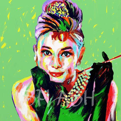 Cuadros pop art cuadros juveniles cuadros splash coloridos - Cuadro audrey hepburn ...