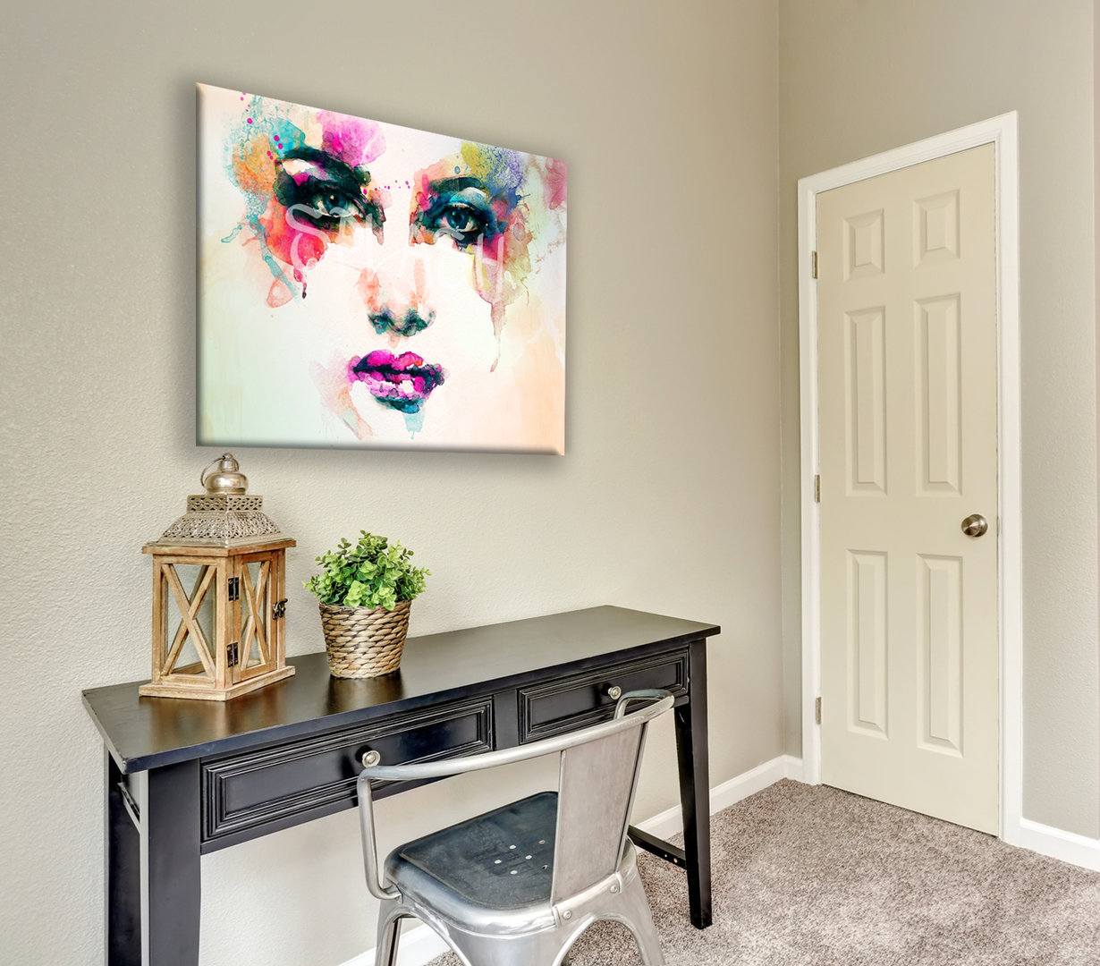 Cuadro abstracto cara tienda de cuadros modernos online cuadros impresos splash - Cuadros juveniles modernos ...