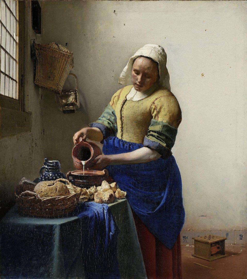 Cuadro de Vermeer la lecheraTienda de Cuadros Famosos Cuadros Splash