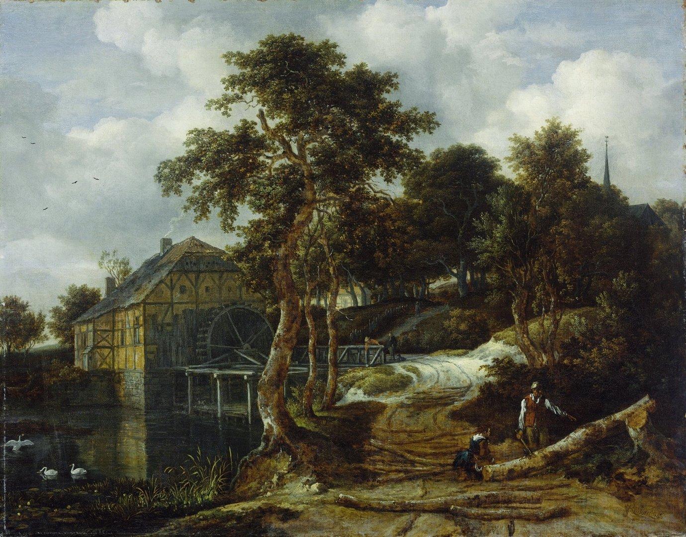 Cuadro Ruisdael paisajeTienda de Cuadros Famosos Cuadros Splash