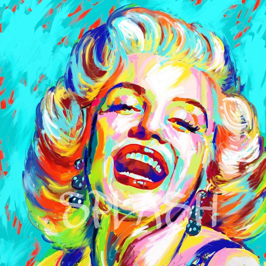 Retrato marylin spr1 tienda de cuadros modernos online for Imagenes cuadros abstractos juveniles