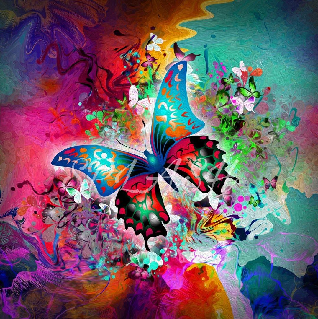 Cuadro moderno abstracto mariposa tiendas cuadros impresos for Imagenes de cuadros abstractos modernos para sala