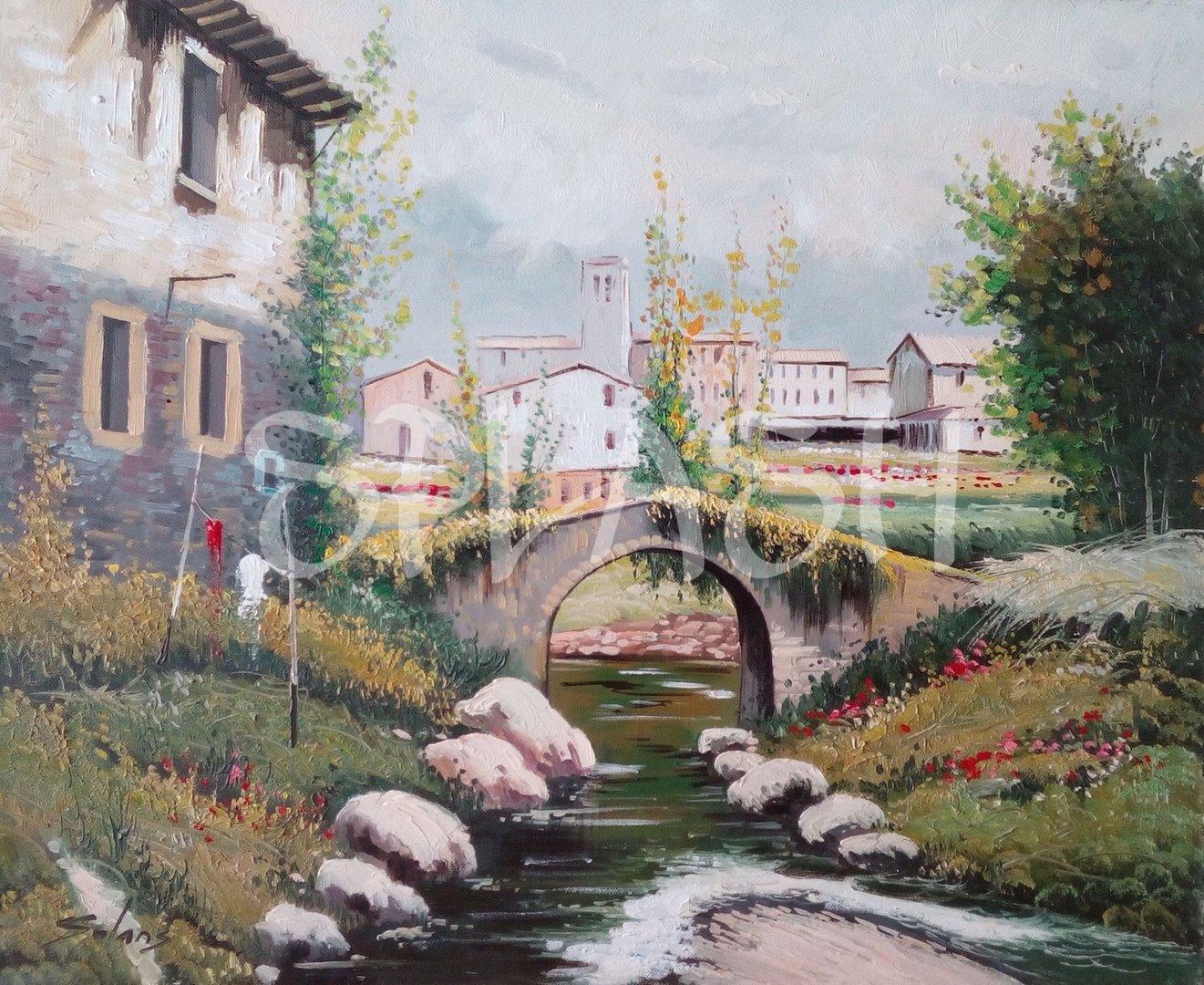 Cuadro de paisaje cl sico sp398 tiendas de cuadros cuadros - Cuadros pintados a mano online ...