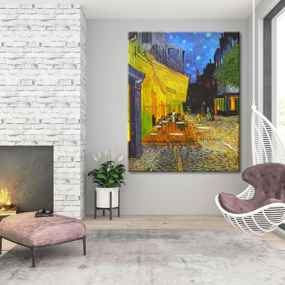 Cuadro Terraza De Café Por La Noche Van Gogh