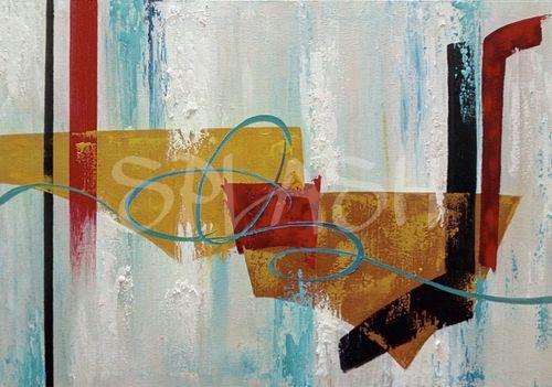 abstracto ocre rojo y negro sp