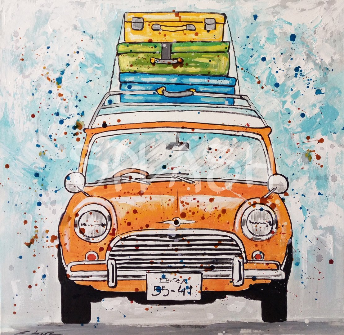 Cuadros Juveniles-Coche Mini|Cuadros Modernos Pop Art Splash para ...