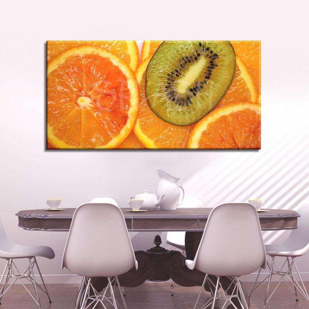 Cuadro bodegón con naranjas