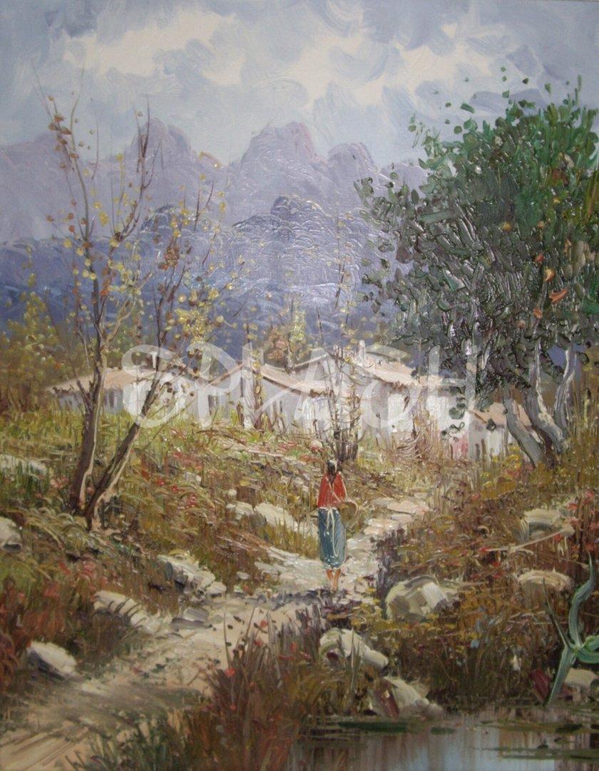 Paisaje cl sico 48x38 cm tienda online de cuadros - Cuadros pintados a mano online ...