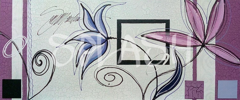Flores 105x45 cm tienda online de cuadros modernos - Cuadros pintados a mano online ...