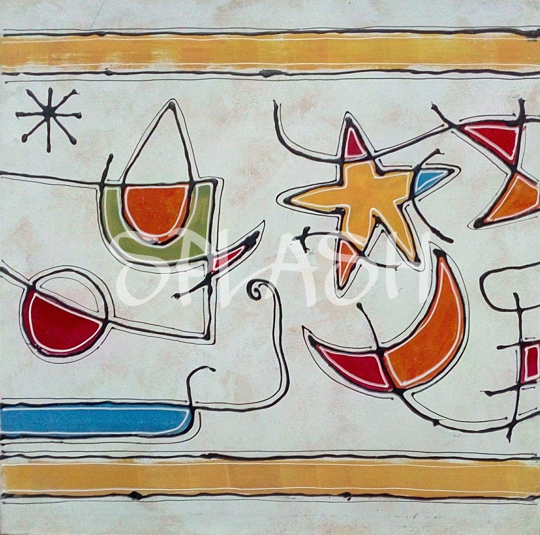 Abstracto mir 73x73 cm tienda online de cuadros - Cuadros pintados a mano online ...