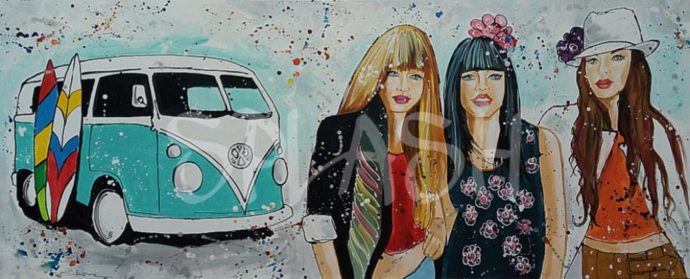 Cuadros juveniles para dormitorios chicas volkswagen tiendas de cuadros modernos splash - Cuadros juveniles modernos ...