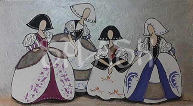 Cuadros de meninas modernas tienda de cuadros modernos - Cuadros pintados a mano online ...