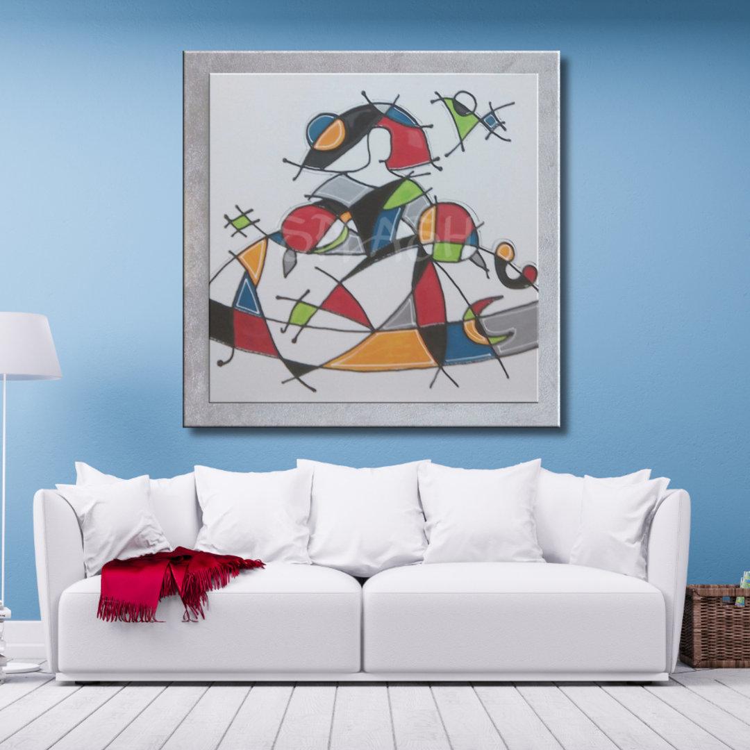 Cuadros de meninas modernas colorido con marco y brillo - Cuadros pintados a mano online ...