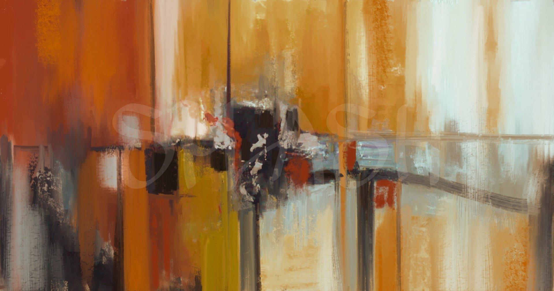 Cuadros abstractos colores ocres c lidos texturas cuadros modernos splash salones y dormitorios - Cuadros juveniles modernos ...