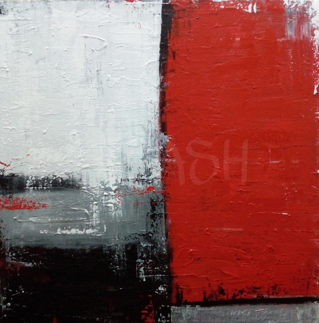 Cuadros Abstractos rojos negros grises cuadrados para salon entradas ...