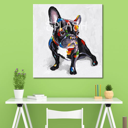 Modern French Bulldog painting colors