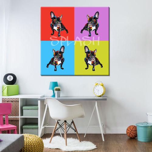 Bulldog Pop Art Painting