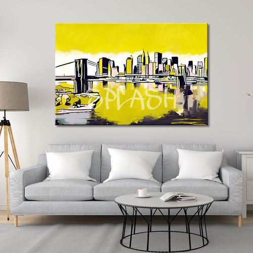 Urban Skyline New York yellow