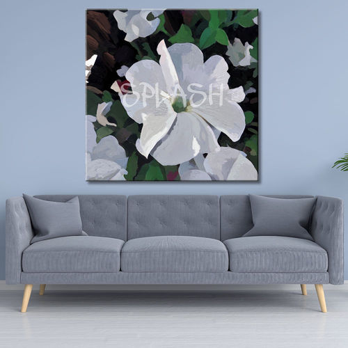 Flower Painting with white petunias