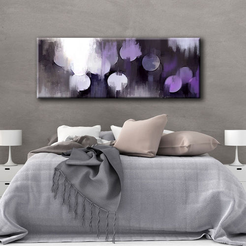 Abstract painting circles grey mauve