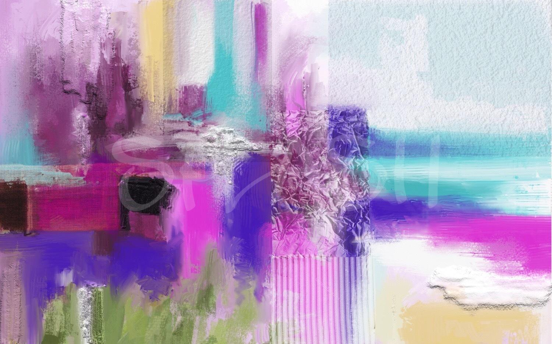Cuadros abstractos cuadro tonos magenta tiendas de cuadros for Imagenes de cuadros abstractos rusticos