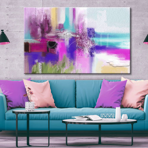 Colourful geometric abstract painting