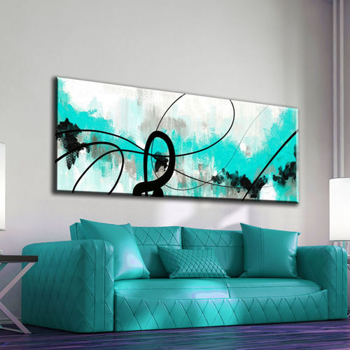 Turquoise Abstract Painting