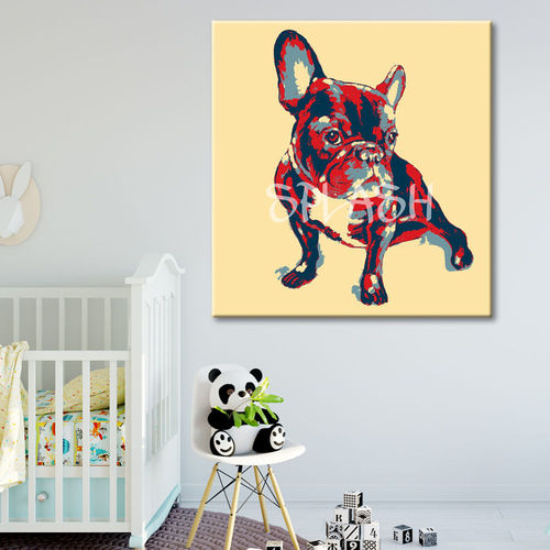 French Bulldog Pop Art Painting