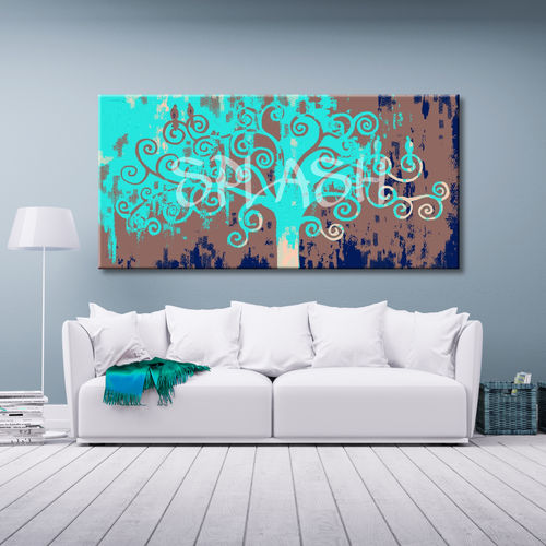 Turquoise Tree of Life Painting