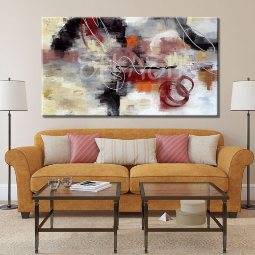 Abstract Disorder Red English painting