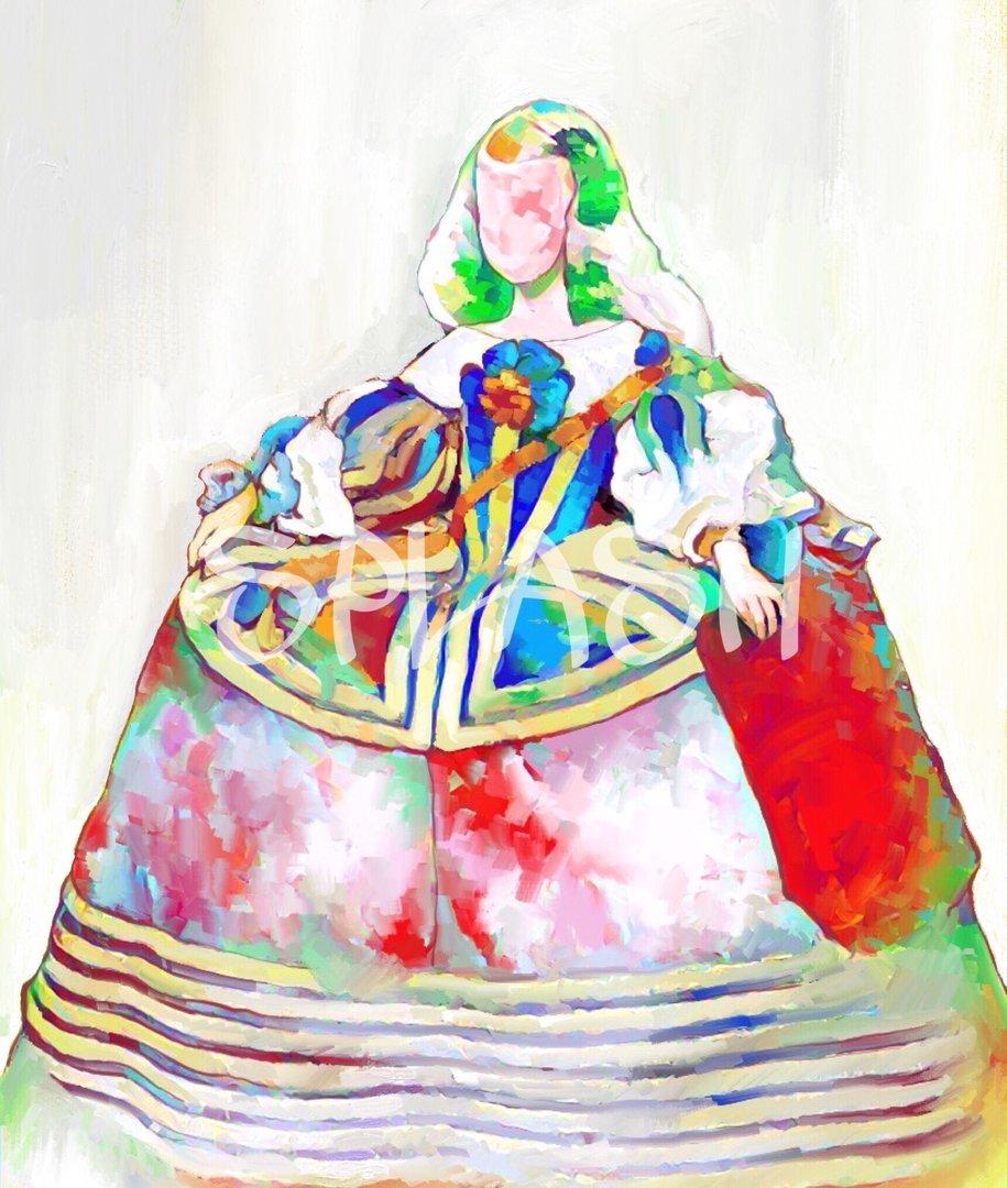 Cuadros de meninas cuadro menina colorido tiendas de - Cuadro meninas moderno ...