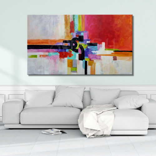 Abstract painting Multicolour geometry