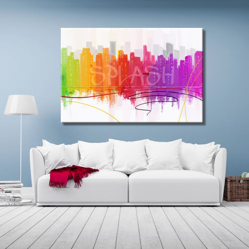 Urban Skyline Abstract Painting