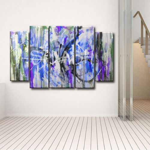 Abstract Painting Chaos in Cobalt
