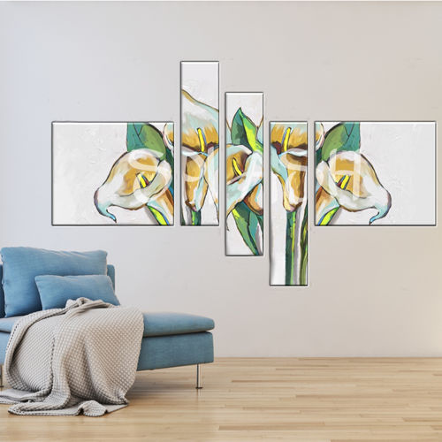 Modular Flower Paintings with calla