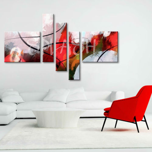Abstract Tangled Red painting
