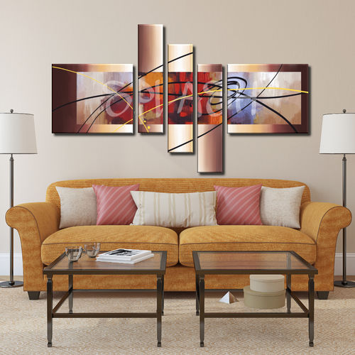 Multiform Abstract warm colors painting