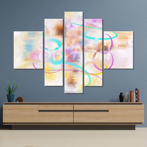 Abstract pastel colors painting