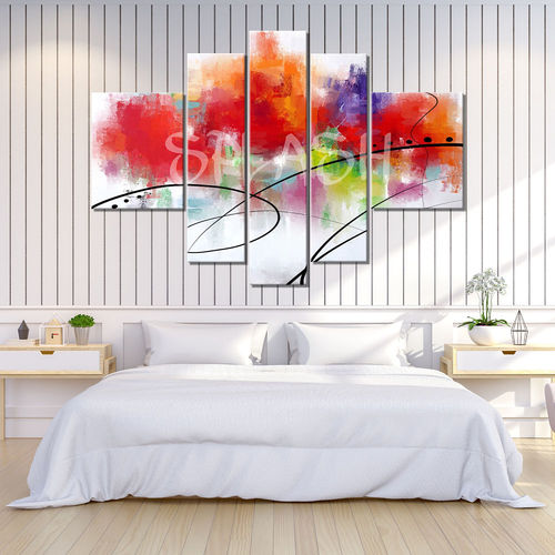 Explosion of colors abstract painting