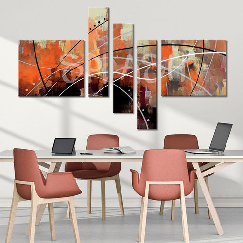 Orange Atmosphere Abstract painting