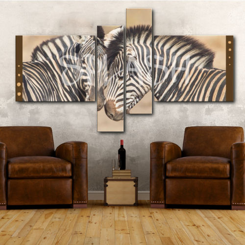 Ethnic canvas 4 pieces Zebras