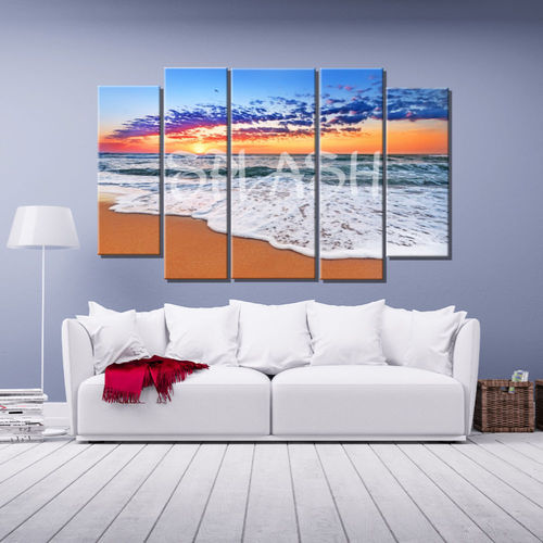 Multiform Canvas of Marina with beach