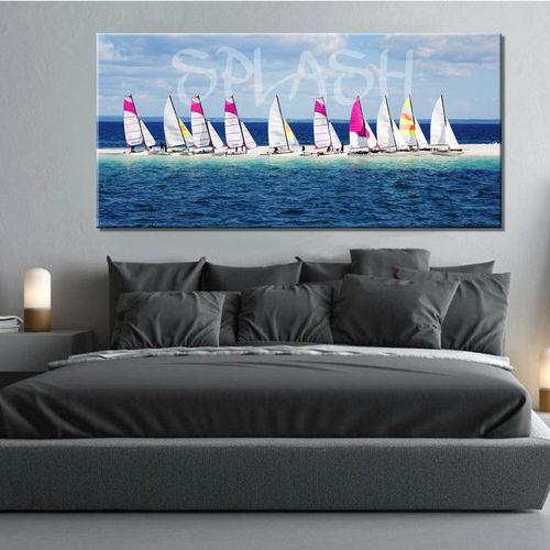 Seascape with sailboats painting