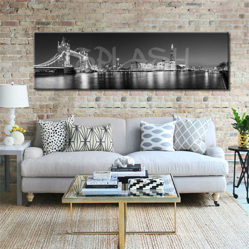 Black & white Printed London Canvas