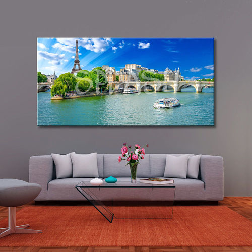 Panoramic Canvas of Paris Eiffel Tower